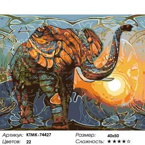 Мудрость Африки Раскраска картина по номерам на холсте KTMK-74427