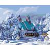 Зимние каникулы Раскраска картина по номерам на холсте KTMK-77897