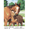 Количество цветов и сложность Забота о жеребенке Раскраска картина по номерам на холсте KTMK-52879