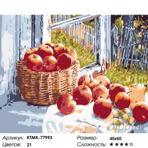 Количество цветов и сложность Летние яблоки Раскраска картина по номерам на холсте KTMK-77993