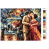 Раскладка Романтика ночи Раскраска картина по номерам на холсте KTMK-78987