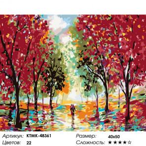 Красные клены Раскраска картина по номерам на холсте KTMK-48361