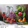 Натюрморт с фруктами Алмазная вышивка мозаика на подрамнике Белоснежка