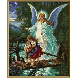 Ангел хранитель Раскраска по номерам акриловыми красками Schipper (Германия) Картина по цифрам