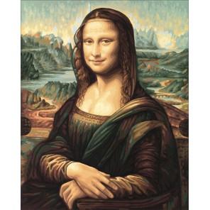 Мона Лиза Репродукция Леонардо да Винчи Раскраска по номерам акриловыми красками Schipper (Германия) Картина по цифрам