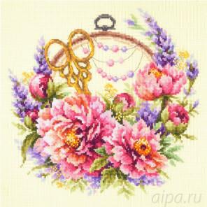 Пионы для умелицы Набор для вышивания Чудесная игла 100-124