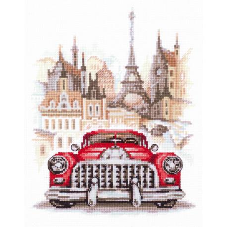 Ретро-автомобиль. Бьюик Набор для вышивания Чудесная игла 110-021