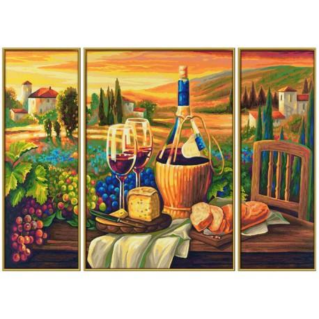 Сладкая жизнь Триптих Раскраска по номерам акриловыми красками Schipper (Германия) Картина по цифрам