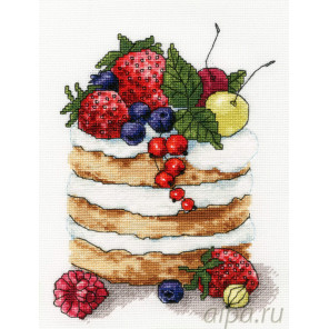 Ягодное пирожное Набор для вышивания Золотое Руно М-007