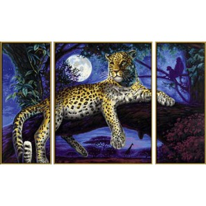 Ягуар в ночи Триптих Раскраска по номерам Schipper (Германия)