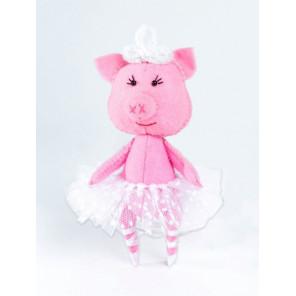 Свинка балеринка Набор для создания игрушки своими руками