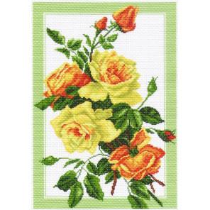 Букет роз Канва с рисунком для вышивки Матренин посад