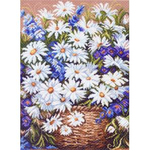 Ромашки, композиция Канва с рисунком для вышивки Матренин посад