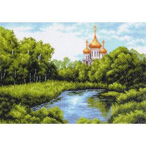 Тихая заводь Канва с рисунком для вышивки Матренин посад