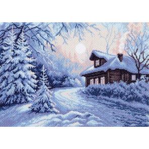 Мороз Канва с рисунком для вышивки Матренин посад