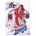 Студеная водица Канва с рисунком для вышивки Матренин посад