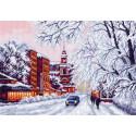 Зимний город Канва с рисунком для вышивки Матренин посад