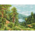 Горные тропы Канва с рисунком для вышивки Матренин посад