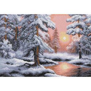 Морозная сказка Канва с рисунком для вышивки Матренин посад