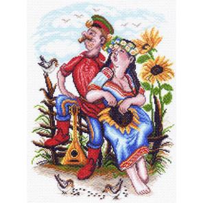 Двое на околице Канва с рисунком для вышивки Матренин посад
