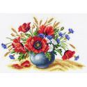 Полевое соцветие Канва с рисунком для вышивки Матренин посад