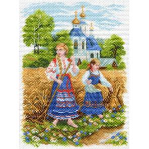 Сенокос Канва с рисунком для вышивки Матренин посад