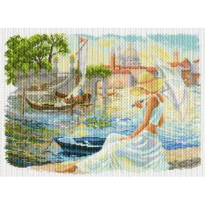Отдых на Набережной Канва с рисунком для вышивки Матренин посад
