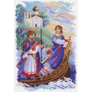 Князь Игорь и Ольга Канва с рисунком для вышивки Матренин посад