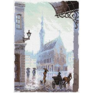 Старый город Канва с рисунком для вышивки Матренин посад