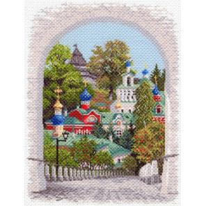 Псково-Печерская лавра Канва с рисунком для вышивки Матренин посад