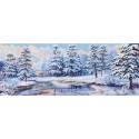 Зимний лес Канва с рисунком для вышивки Матренин посад