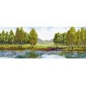 Летний полдень Канва с рисунком для вышивки Матренин посад
