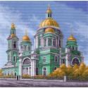 Елоховский собор в Москве Канва с рисунком для вышивки Матренин посад