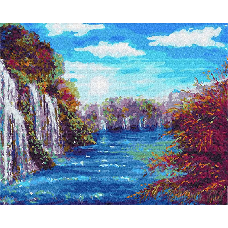 Z-GX23191 Лазурное озеро Раскраска картина по номерам на ...