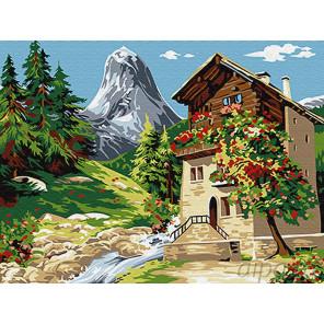 Дом у горы Раскраска картина по номерам на холсте Z-EX6081
