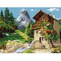 Дом у горы Раскраска картина по номерам на холсте