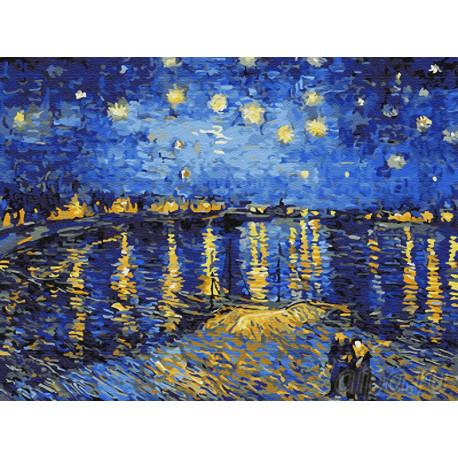 Z-EX5348 Звездная ночь над Роной Раскраска картина по ...