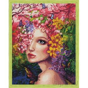Весенняя фея Алмазная мозаика на подрамнике QA202781