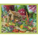 Сторожка в цветах Алмазная мозаика на подрамнике QA202788
