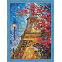 Весной в Париже Алмазная мозаика на подрамнике QS200209