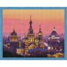 Вечерний Петербург Алмазная мозаика на подрамнике QA202994