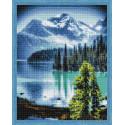 Горное озеро Алмазная мозаика на подрамнике QA202812
