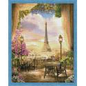 Кафе в Париже Алмазная мозаика на подрамнике QA202991