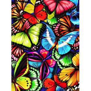 Яркие бабочки Алмазная вышивка мозаика АЖ-1725