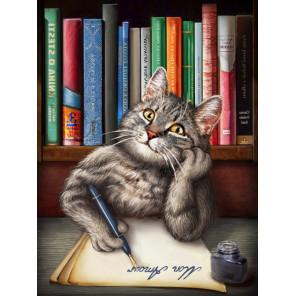 Кот ученый Алмазная вышивка мозаика