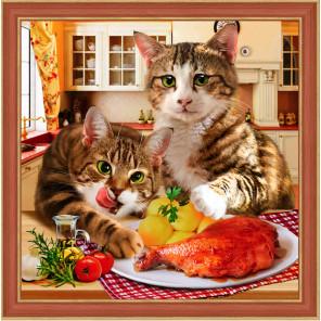 Коты воришки Алмазная вышивка мозаика