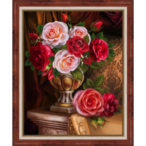 Благородные розы Алмазная вышивка мозаика