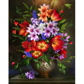 Цветочное ассорти Алмазная вышивка мозаика АЖ-1733