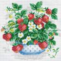 Клубника Алмазная вышивка мозаика Риолис АМ0008