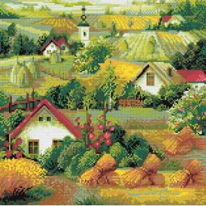 Сербский пейзаж Алмазная вышивка мозаика Риолис АМ0013